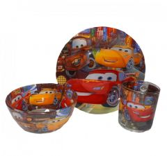 "Набір дитячого скляного посуду ""Cars"" (3 ел.), Disney"