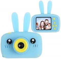Дитячий цифровий фотоапарат з вушками SMART KIDS CAMERA, Блакитний