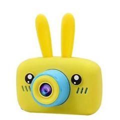 Дитячий цифровий фотоапарат з вушками SMART KIDS CAMERA, Блакитний/салатовий