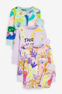 Піжама для дитини 1шт. (лавандовий колір з квітковим принтом)