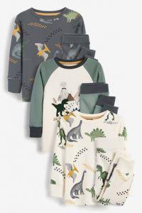 Піжама для хлопчика 1 шт. (реглан з рукавчиками в кольорі хакі та штанята в кольорі хакі)