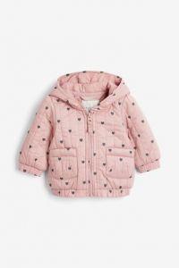 Стьобана куртка з принтом для дівчинки