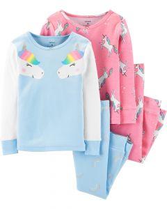 Піжама для дівчинки 1шт. (блакитна з принтом)