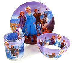 """Набір дитячого скляного посуду """"Frozen"""" (3 ел.), Disney"""