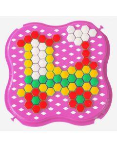 """Розвиваюча іграшка """"Мозаїка"""" міні, 39112 (рожева)"""