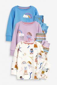 Піжама для дитини 1шт. (блакитний реглан та штани)