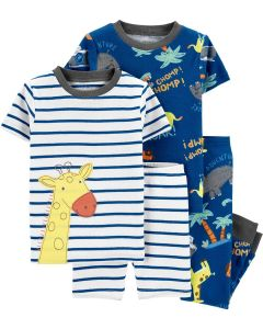 Трикотажна піжама для дитини 1шт. (біла в смужку)