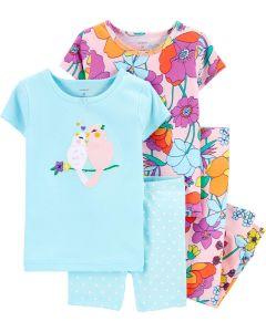 Піжама для дівчинки  1шт. (рожева з принтом)