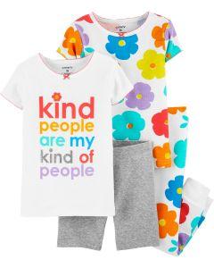 Піжама для дівчинки 1шт. (біла футболка і сірі шортики)