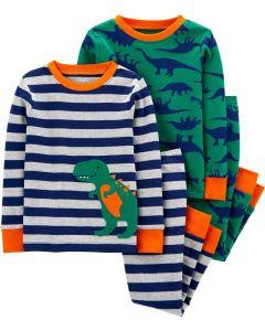 Трикотажна піжама для хлопчика 1шт. (зелена з принтом)