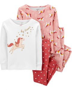 Трикотажна піжама 1шт.(колір рожевої пудри з принтом)