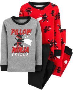 Трикотажна піжама для хлопчика 1шт. (червона з принтом)
