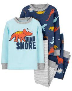 Трикотажна піжама для хлопчика 1шт. (блакитний реглан і штани у смужку)