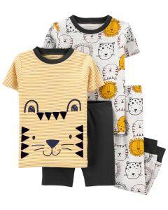Трикотажна піжама для хлопчика 1шт. (футболка у смужку і темно-сірі шорти)
