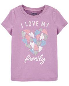 Трикотажна футболка для дівчинки