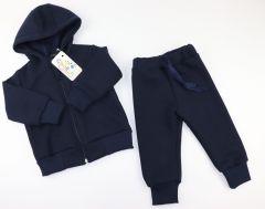 Трикотажний костюм з флісовою байкою всередині (синій), Coolton