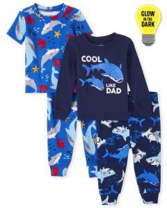 Трикотажна піжама для хлопчика 1шт. (яскраво-сині фуболка та штани)