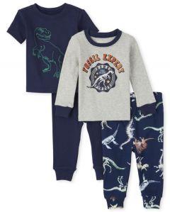 Трикотажна піжама для хлопчика 1шт. (сірий реглан та штани з принтом)
