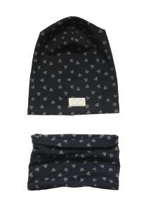 Дизайнерский набор для девочки  (шапочка и хомут), Н-002
