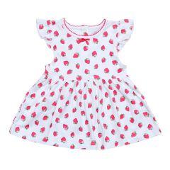 Трикотажне плаття-туніка для дівчинки (полуничка), Minikin 200903