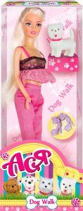 Набір лялька Ася з серії Прогулянка з собачкою, 35059