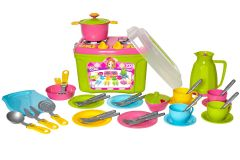 Набір дитячого посуду (у валізі), ТехноК 3596