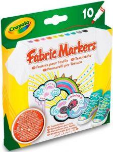 Фломастери для малювання по тканині (10 шт), Crayola 58-8633