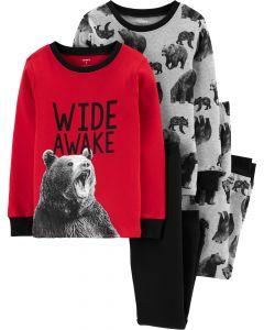 Пижама для мальчика 1шт. (красный реглан и черные штаны)