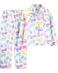 Піжама з флісової байки для дівчинки