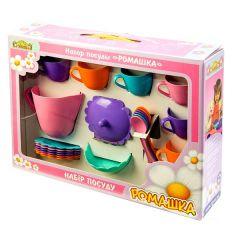 Набір іграшкового посуду «Ромашка» на 22 ел. , Tigres 39392