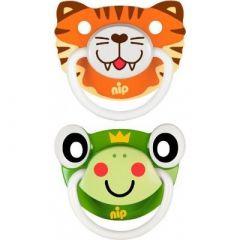 """Пустушки  """"Веселі тварини №3, тигреня / жабка"""" силікон, Nip 31503"""