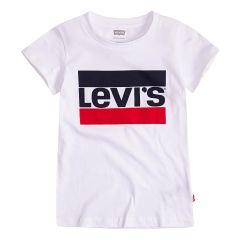 Стильна трикотажна футболка для дівчинки (айворі) , Levi's , 3Е4900