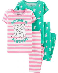 Пижама для девочки 1шт. (зеленая)