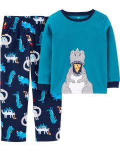 Теплая флисовая пижама для мальчика
