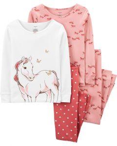 Трикотажна піжама для дівчинки 1шт. (колір рожевої пудри з принтом)