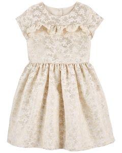 Нарядне жакардове плаття для дівчинки
