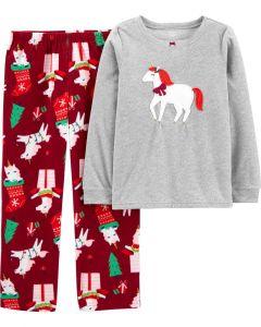 Новоріча флісова піжама для дівчинки