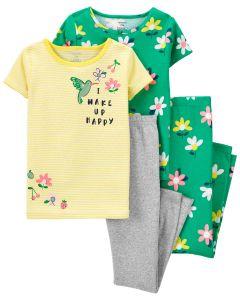 Піжама для дівчинки 1шт. (жовта футболка і сірі штани)