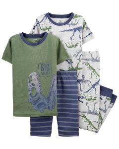 Трикотажна піжама для хлопчика 1шт. ( зелена футболка і шорти в смужку)