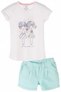 Трикотажний комплект-двійка для дівчинки, Max & Mia 3P3606