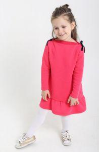 Трикотажне плаття з флісовою байкою для дівчинки, 7846