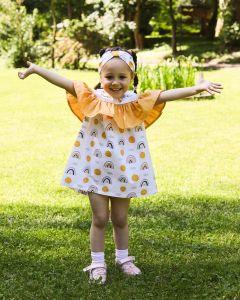 Красиве котонове плаття з пов'язкою для дівчинки, 8672