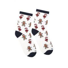 Шкарпетки з махровою ниткою (білі), Duna, 4024
