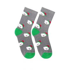 Шкарпетки з махровою ниткою (сірі), Duna,4037