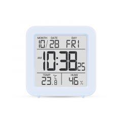 Цифровий термо-гігрометр з годинником(голубий), Склоприлад Т-15
