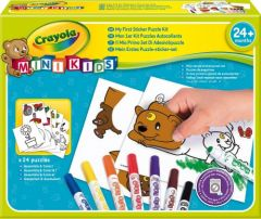 """Набір для творчості з фломастерами і наклейками """"Мій перший пазл"""", Mini Kids, Crayola 81-8113"""