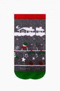 Шкарпетки з махровою ниткою (темно-сірі), Duna,4050