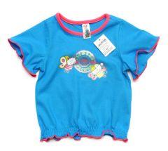 Трикотажна футболка для дівчинки, 121-1351