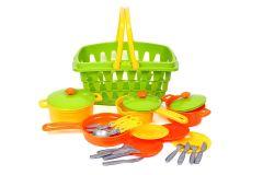 Набір посуду в корзині, ТехноК, 4456