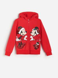 """Тепле худі ''Mickey Mouse"""" з флісовою байкою всередині, з новорічною тематикою"""